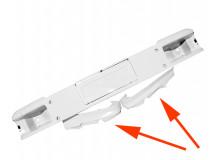 бампер F2000 верх пластик белый