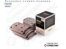 Накладка тормозная задняя F3000 (8 отверстий) качество Createk