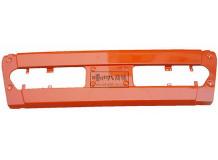 Бампер центр красно-оранжевый металлик