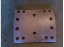Накладка тормозная задняя A7 220x187 (14 отверстий) красная