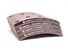 Накладка тормозная задняя 195x180 (8 отверстий) качество Huatai